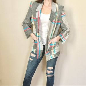 Vintage 90's Graphic Plaid Oversized Blazer Jacket